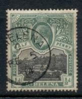 St Helena 1912-16 KGV Government House 0.5d (grubby) FU - St. Helena