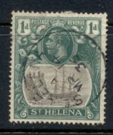 St Helena 1922-27 KGV Badge Of Colony 1d FU - St. Helena