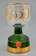 Zenélő üvegpohár, Sérült, M: 14,5 Cm - Verre & Cristal