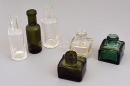 6 Db éri és Régebbi üveg, Egyik Alján Sidol Felirattal, Kopott, M: 5 és 10,5 Cm Közötti Méretben - Verre & Cristal
