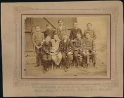 1892 Feliratozott, Vintage Fotó, 12x1,8 Cm, Karton 19,4x24,8 Cm - Other Collections
