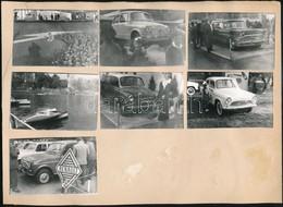 1970 A Budapesti Nemzetközi Vásáron Kiállított Közlekedési Eszközökről (autó, Motor) Készített 11 Db Db Fotó Kartonlapra - Other Collections