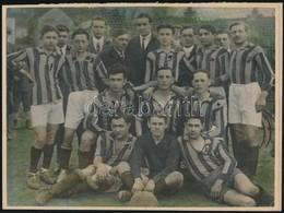 Cca 1948 Focicsapat, Színezett Vintage Fotó Demeter Sándor Szentesi Fényképész Hagyatékából, Kasírozva, 17x23 Cm - Other Collections