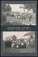 1959 Szolgaegyháza (Szabadegyháza), Arató ünnep, Kartonra Ragasztott Fotó, 2 Db, Feliratozva, 11,5×17 Cm - Other Collections