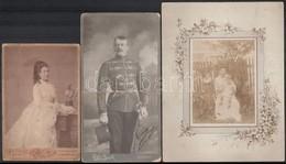Cca 1890-1921 össz. 9 Db Keményhátú Fotó és Fotólap Különböző Műtermekből (Gömör, Szatmár; Oroszy, Nagybecskerek; Szenet - Other Collections
