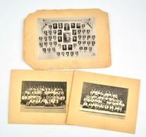 Cca 1930 3 Db Iskolai Tabló Kép Kartonon 17x12 Cm - Other Collections