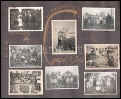 1933 Csepel-szigeten élő Család 16 Db Fotója, Kartonlapra Ragasztva, 6×8 Cm-es Fotók - Other Collections