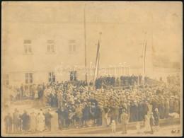 1928 Gyülekezés, Fotó, Hátulján Feliratozott, 18x24 Cm - Other Collections