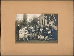 1917 Rákoshegy, Szigeti és Seiden Család Csoportképe, Fotó Paszpartuban, 12×16,5 Cm - Other Collections
