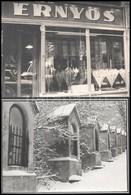 Cca 1970-1985 Vegyes Művész Fotó Kirakatokról, Duna-korzóról Stb., Néhány A Hátulján Feliratozott, 44 Db, 10,5x15 és 30x - Other Collections