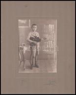 Cca 1923 Fiú Hegedűvel, Kartonra Ragasztott Fotó, 15,5x11,5 Cm - Other Collections
