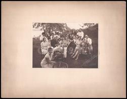 1930 Borozók Társasága, Fotó Kartonra Ragasztva, 11,5x16,5 Cm - Other Collections