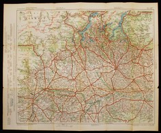Cca 1910 G. Freytag&Berndt's Automobil- Und Radfahrerkarten, Blatt 40.: Schweiz Und Italien. Verlag Der Kartographischen - Mappe