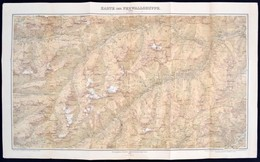 1899 Ausztria A Ferwallgroupe Térképe / 1899 Austria Large Hiking Map Of The Ferwallgroup 70x90 Cm - Mappe