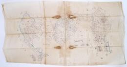 XIX. Sz. Ulm Erdélyi Település Telkeinek Kézzel Rajzolt Térképe Pausz Papíron / Hand Drawn Map Of Transylvanian Village  - Mappe