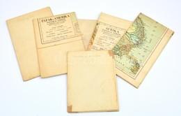 Vegyes Térkép Tétel (Ázsia, Genova, Észak-Amerika, Európai Kis-Ázsia, Afrika), 6 Db - Mappe