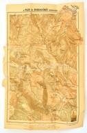 1920 A Pilis és Dobogókő Környéke, Tervezte: Magaziner Pál, Dr. Vigyázó János, Turistaság és Alpinizmus Kiadása, Szakadá - Mappe