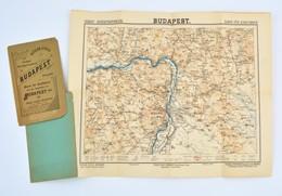 1897/1910 Budapest, Térkép Kerékpárosoknak, Kiadó és Szerkesztő: Kitzler Gyula, Elszakadt Borítóval, Egyébként Jó állapo - Mappe