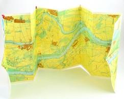 Cca 1980 Duna Vizisport Térkép Budapest-Dunaújváros 39x136 Cm - Mappe