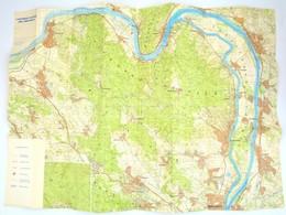 1984 A Nagymarosi Vízlépcső Főbb Létesítményei. Térkép. 88x65 Cm - Mappe