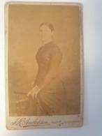 Cdv Ancienne Années 1800 Portrait  D'une Jeune Femme. Welshpool Pays De Galles - Alte (vor 1900)