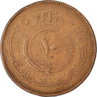 Monnaie, Jordan, Hussein, 10 Fils, Qirsh, Piastre, 1987, TTB, Bronze, KM:10 - Jordan