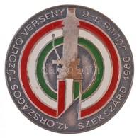 """1986. """"12. Országos Tűzoltó Verseny - Szekszárd 1986. Június 3-6."""" Festett, Ezüstözött Br Jelvény T:1-,2 - Coins & Banknotes"""