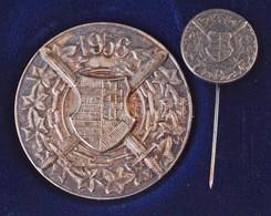 """1991. """"1956-os Emlékérem"""" Ezüstözött Br Kitüntetés Miniatűrrel, Díszdobozban. """"D.L. Vésnök Kft."""" Gyártói Jelzéssel (38mm - Coins & Banknotes"""