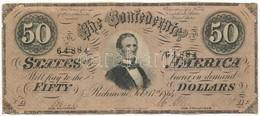 Amerikai Konföderációs Államok / Virginia / Richmond 1864. 50$ Replika T:III  The Confederate States Of Amerika / Virgin - Coins & Banknotes