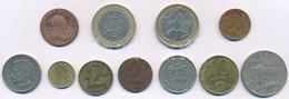 """11db-os Vegyes Fémpénz Tétel, Közte 1780S 1kr Cu """"Mária Terézia"""" + Nagy-Britannia 1998-2002. 2Ł (2xklf) T:2-3 11pcs Of M - Coins & Banknotes"""