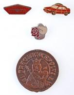 """4db-os Vegyes Magyar és Külföldi Jelvény, Emlékérem Tétel, Közte """"Dumper Dutra Traktor"""" Fém Jelvény - Coins & Banknotes"""