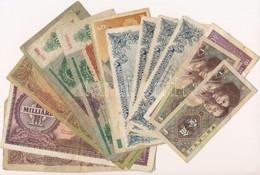 Vegyes 18db-os Magyar és Külföldi Bankjegy Tétel T:III-IV - Coins & Banknotes