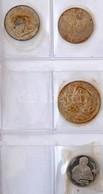 Hagyaték Tétel, 137db-os Vegyes, Főleg Magyar, Osztrák, Csehszlovák, Francia, Német Fémpénz Gyűjtemény Ezüstökkel Albumb - Coins & Banknotes