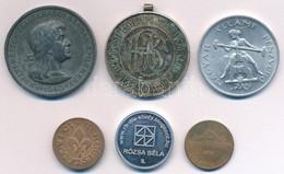 """Vegyes 6db-os éremtétel, Közte 1940. """"Erdélyi Részek Felszabadulásának Emlékére"""" Cink Emlékérem Fül Nélkül. Szign.:BERÁN - Coins & Banknotes"""
