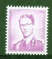 BELGIE Boudewijn Bril * Nr 1067b * Postfris Xx * WIT PAPIER - 1953-1972 Glasses