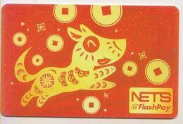Singapore Cash Card Farecard Used Cashcard Dog - Andere Sammlungen