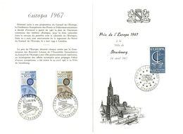 (G 8) France Poste Office Souvenir - 1967 - EUROPA - (un-folded) - Europa-CEPT