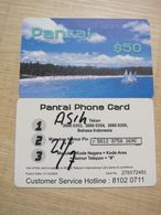 Prepaid Phonecard, Pantai Beach, Used - Hongkong