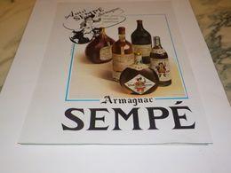 ANCIENNE PUBLICITE ARMAGNAC SEMPE 1947 - Alcools