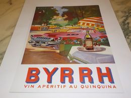 ANCIENNE PUBLICITE VIN  AU QUINQUINA APERITIF BYRRH   1955 - Alcools