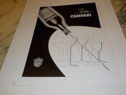 ANCIENNE PUBLICITE L APERITIF BITTER CAMPARI 1955 - Alcools