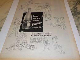ANCIENNE PUBLICITE BUVEZ BIEN VRAI  LIMONADE PSCHITT 1958 - Affiches