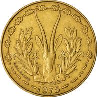 Monnaie, West African States, 10 Francs, 1975, TTB, Aluminum-Nickel-Bronze - Côte-d'Ivoire