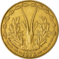 Monnaie, West African States, 10 Francs, 1975, TTB, Aluminum-Nickel-Bronze - Ivory Coast