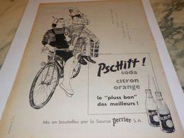 ANCIENNE PUBLICITE VELO ET PSCHITT SODA 1956 - Affiches