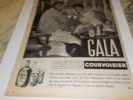 ANCIENNE PUBLICITE POUR VOUS ET MOI  GALA COURVOISIER  1958 - Alcools