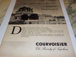 ANCIENNE PUBLICITE COGNAC  COURVOISIER THE BRANDY  1958 - Alcools