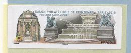2019 LISA 2 VIGNETTE VIERGE Salon Philatélique De Printemps à Paris - 2010-... Illustrated Franking Labels