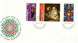 (G 9) New Zealand - FDC - 1971 - Christmas - FDC