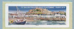 2019 LISA 2 VIERGE 73 ème Salon Philatélique D'automne à Paris - 2010-... Illustrated Franking Labels